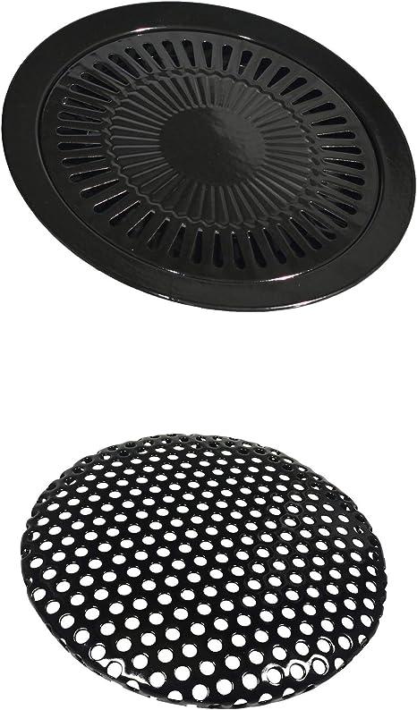 Parrilla adicional para hornillo portátil de gas de 32 cm de diámetro, plancha de barbacoa para hornillo de gas