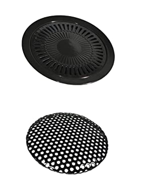 Parrilla adicional para hornillo portátil de gas de 32 cm de diámetro, plancha de barbacoa para hornillo de gas: Amazon.es: Jardín