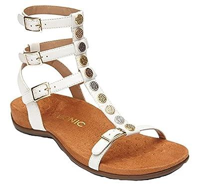 Amazon.com | Vionic Womens Rest Sonora Backstrap Gladiator Sandal | Flats
