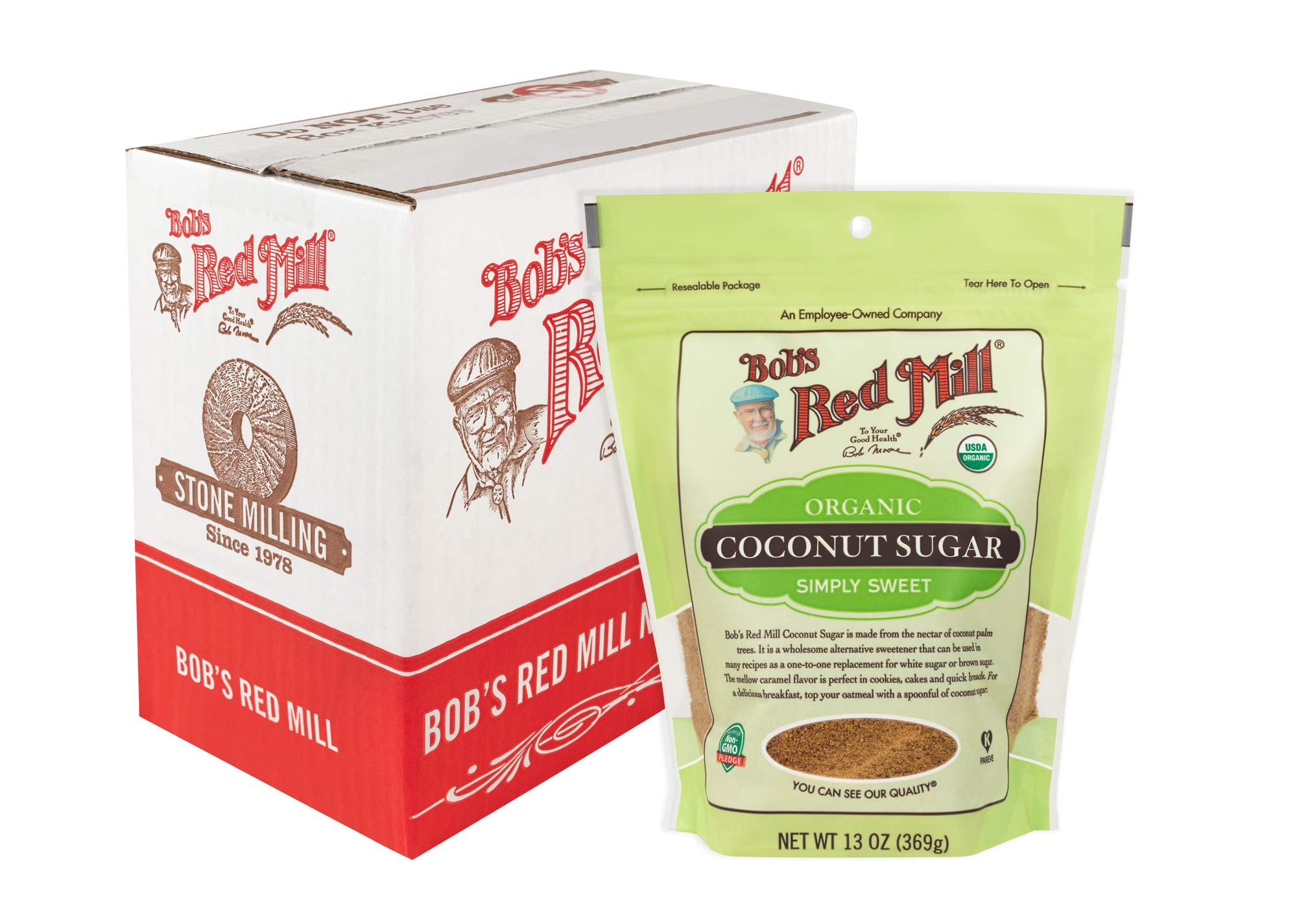 Bob's Red Mill Resealable Organic Coconut Sugar, 13 Oz (6 Pack)