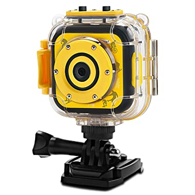 PROGRACE Children Kids Camera Waterproof Digital Action Camera for Boys Girls: Toys & Games