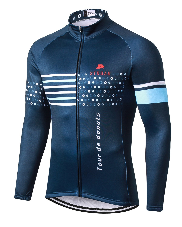 MR STRAGO メンズ サイクリング 冬用 保温ジャケット 防風 長袖 自転車 ジャージ コート Mサイズ B076YT2CGG Large|1005 1005 Large