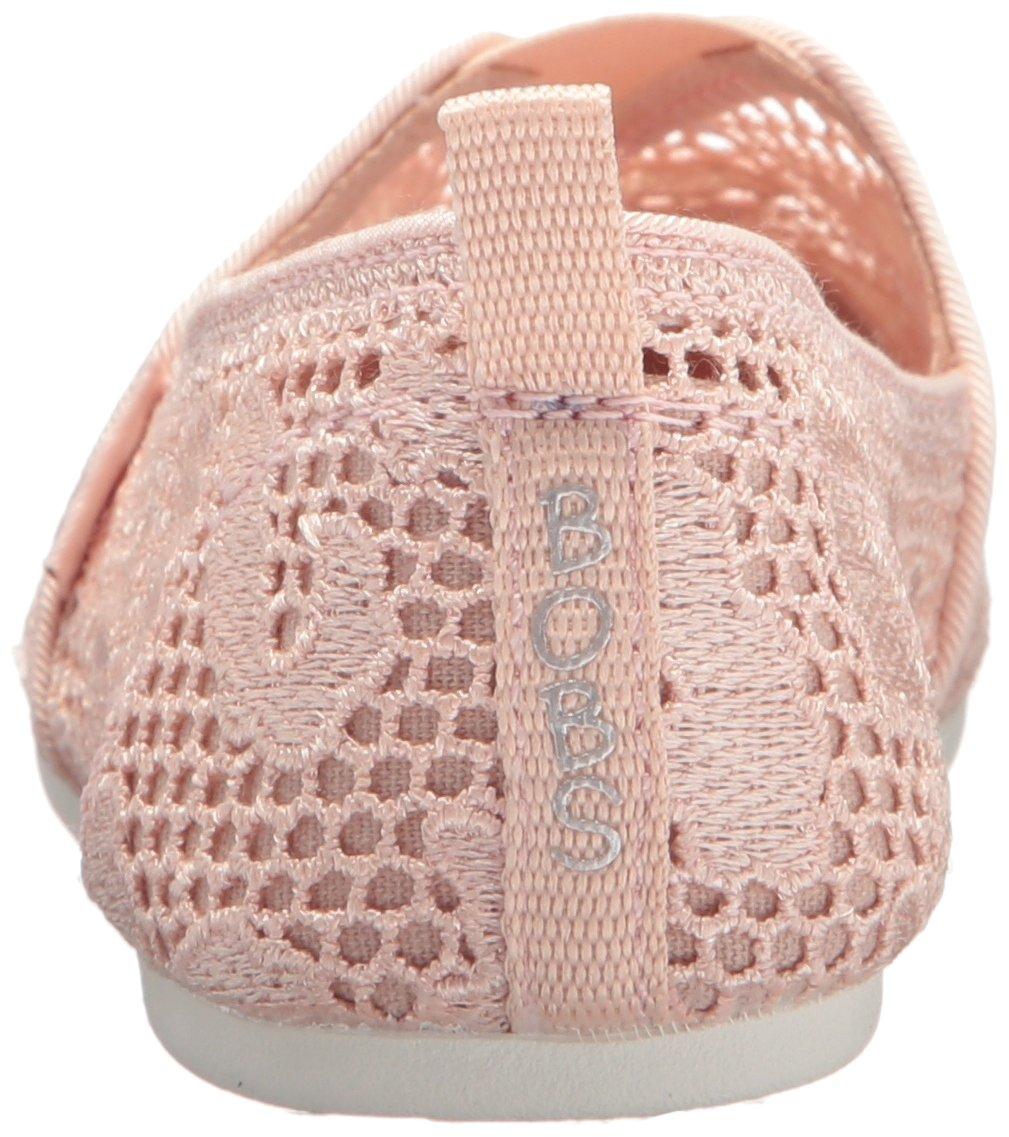 Skechers Women's 7.5 Bobs Plush-Leopard Crochet Ballet Flat B074JPBZ8Z 7.5 Women's B(M) US|Light Pink 4f2411
