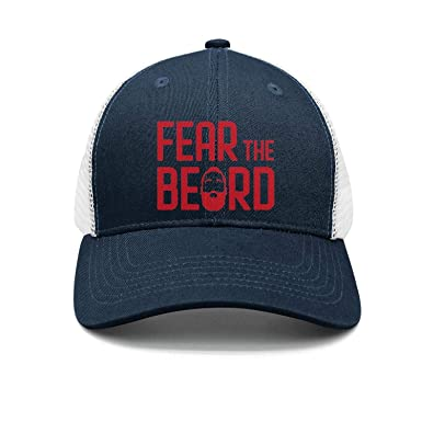 0264d7d1c60 Amazon.com  Unisex Navy-Blue Snapback Hats for Mens Womens Fear-The ...