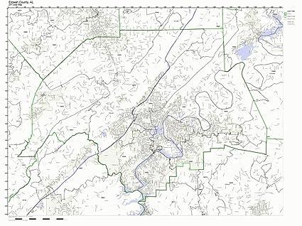 Amazon.com: Working Maps Etowah County, Alabama AL Zip Code ...