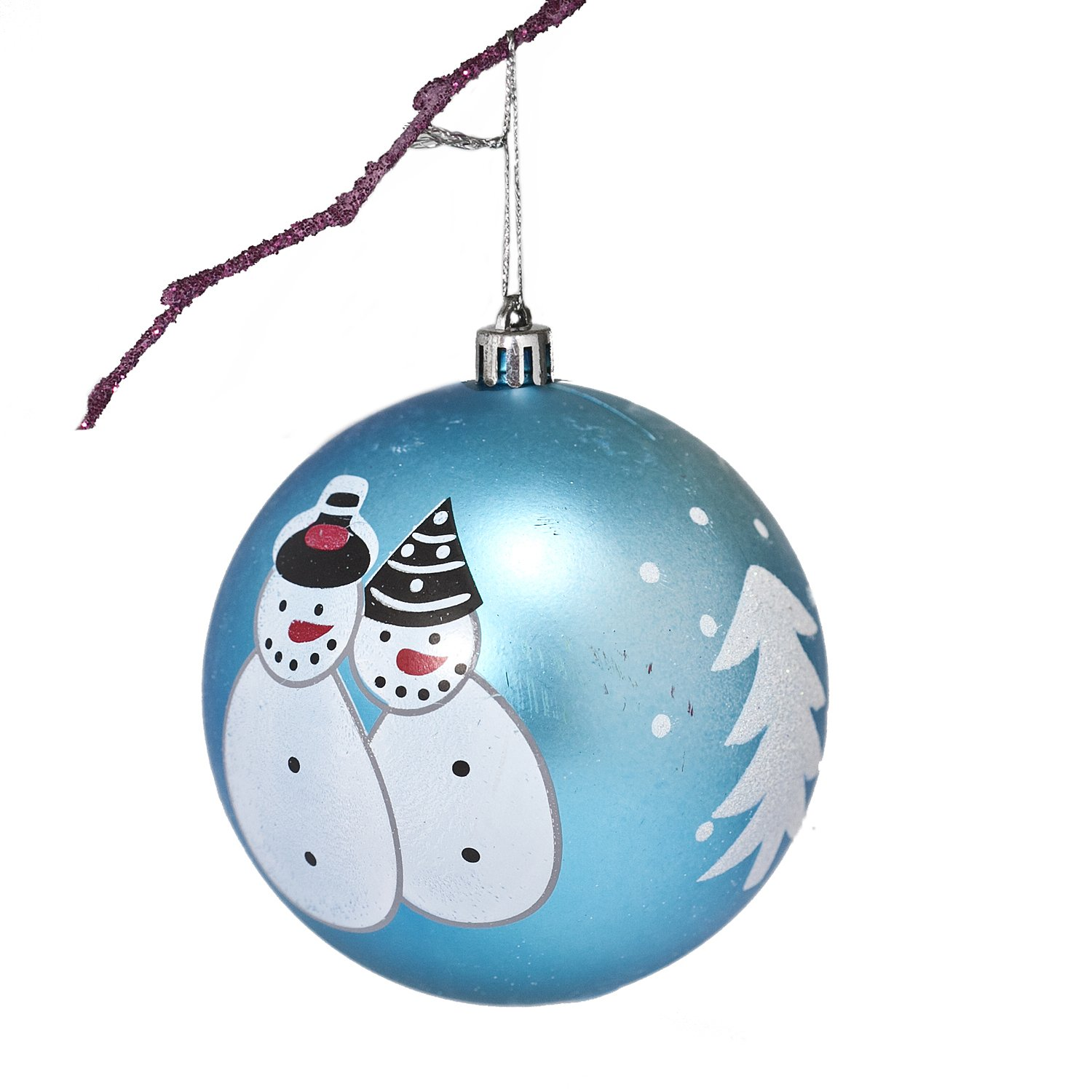 Perfect Holiday Handpainted 1 Piece Shatterproof Christmas Ornament Set, 39 Inch, Matte