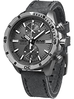 Vostok-Europe Almaz Titanium Two-Eye Quartz Chronograph with 60-Minute Stopwatch 320H264