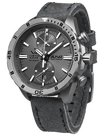 amazon com vostok europe almaz titanium two eye quartz chronograph