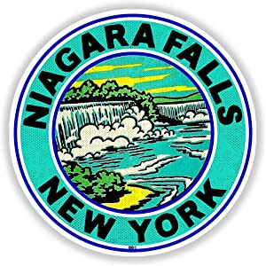 "Niagara Falls New York Decal Travel Sticker 3"" Laptop Bumper"