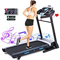 ANCHEER Treadmills for Home, 3.25HP APP Folding Treadmill with Automatic Incline, Walking Running Jogging Machine for…
