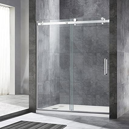 Woodbridge Deluxe Frameless Sliding Shower Door Clear Tempered