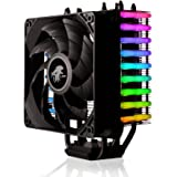 LEPA NEOllusion RGB Motherboard Sync High Performance 200W+ TDP Intel/AMD/AM4 CPU Cooler 4-pin RGB Header Remote Control Adjustment Lighting Modes/Colors, LPANL12-MS