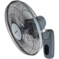 CLIKON - 16-inch WALL FAN WITH REMOTE CONTROL, 5 LEAF BLADE DESIGN, 1150 RPM, TIMER & SWING FUNCTION, 3 SPEED SETTING…