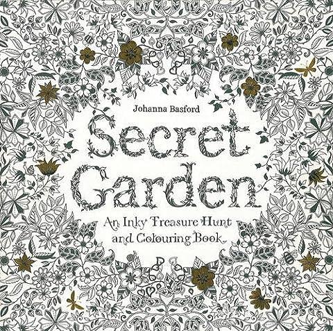 Secret Garden: An Inky Treasure Hunt and Coloring Book - Cameo Garden
