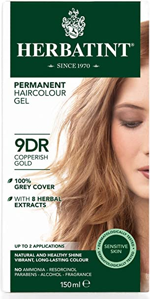 Herbatint Gel permanente para el cabello a base de hierbas, color dorado cobre, 150 ml