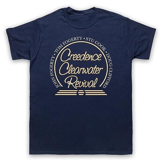 Inspirado por Creedence Clearwater Revival CCR Circle Logo No Oficial Camiseta para Hombre
