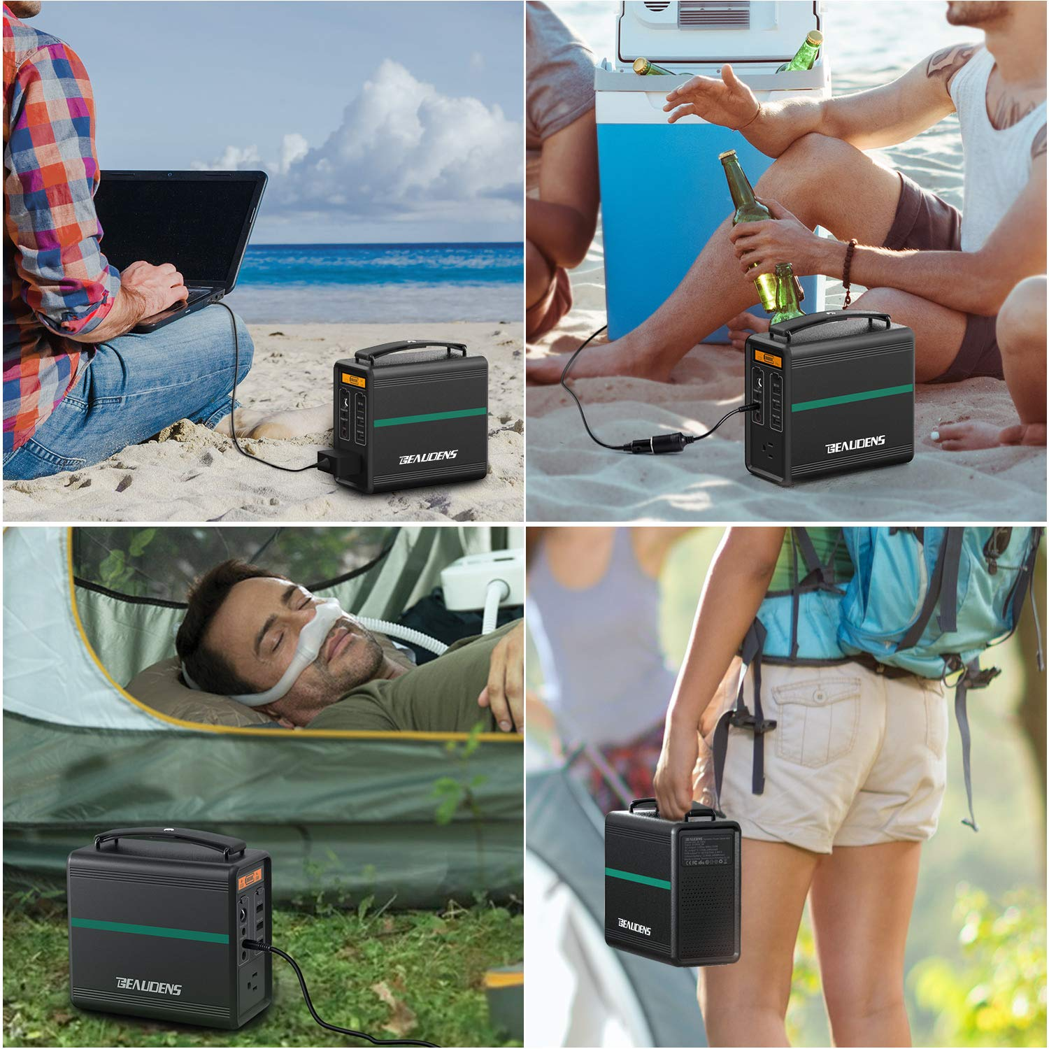 BEAUDENS 166Wh Portable Power Station, Lithium Iron Phosphate Battery, 2000 Cycles, 10 Years Battery Life, with Multiple Ports, Perfect for Tablet, Laptop, Appliances Use by BEAUDENS (Image #7)