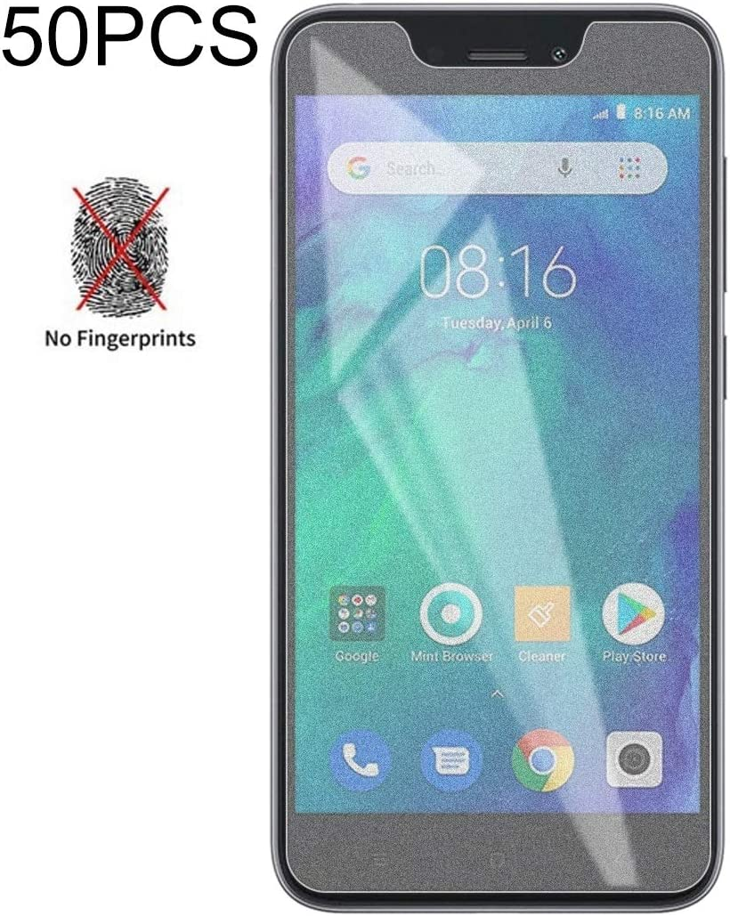 No Retail Package Glass Film DESHENG Clear Screen Protector 50 PCS Non-Full Matte Frosted Tempered Glass Film for Xiaomi Redmi Go