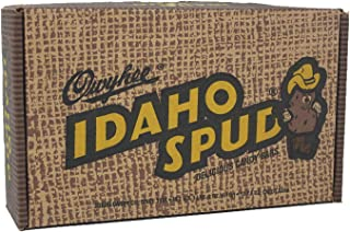 product image for Idaho Spud Candy Bars 12 pack in Collectible Gift Box that resembles a carton of potatoes. Personalized gift card option available at checkout.