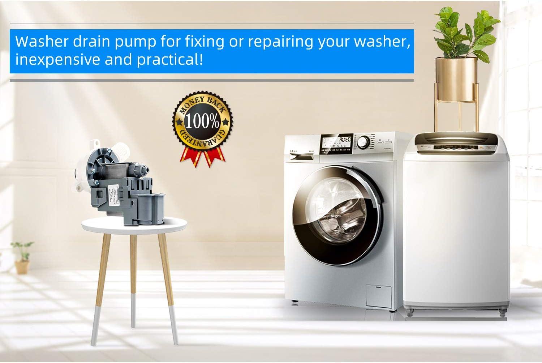 Hosom W10276397 Bomba de drenaje de lavadora, pieza de repuesto ...