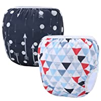 Storeofbaby Couches de bain réutilisables bébé couverture imperméable pour 0-36 mois unisexe Pack de 2