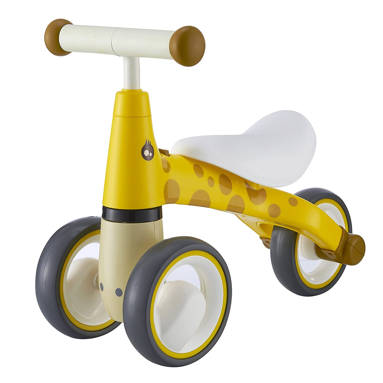 BEKILOLE Baby Sliding Bike Ride On Toy Bikes Bicycle Children No Foot Pedal Three Wheels Toddlers 1 to 3 Years BL0021001Giraffe