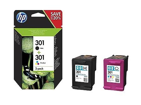 HP 301 Pack de 2 Cartouches - 1 d