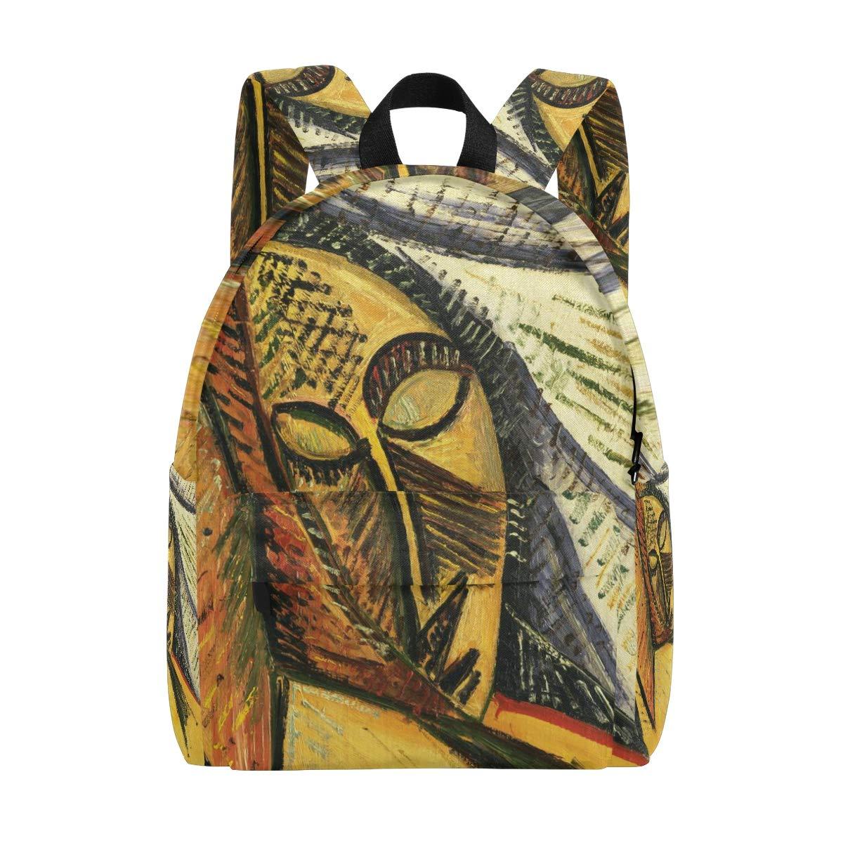 DEYYA 軽量パブロピカソ アフリカンガール アートスクール バックパック レディース ガールズ ティーン キッズ   B07GNBPW92