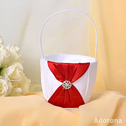 White satin bow flower girl baskets gb03d suply selfdream white satin bow flower girl baskets gb03d suply selfdream gjh83g723446040 mightylinksfo