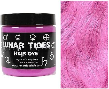 Petal Pink, tinte para el cabello semi permanente rosa - 118 ml - Lunar Tides