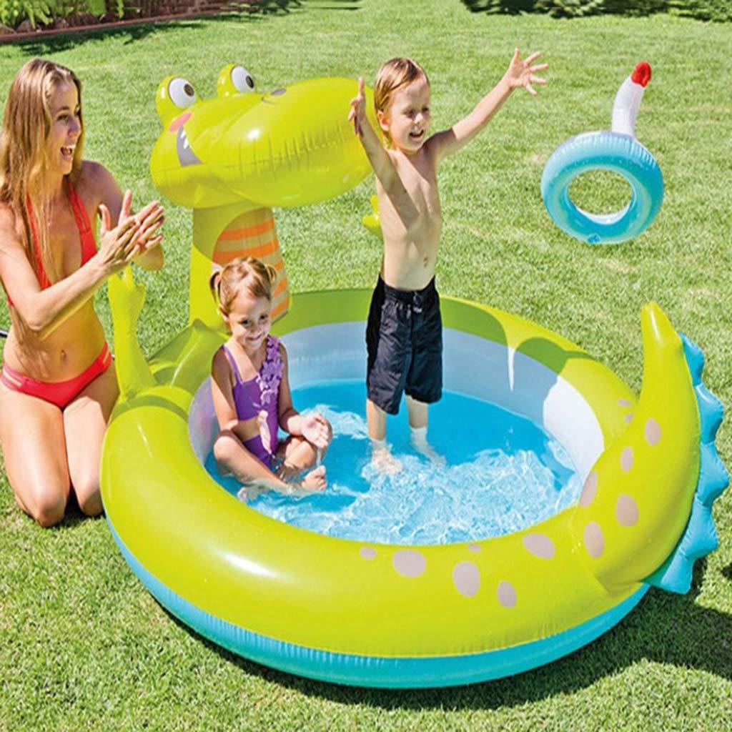 LIJUEZL Kinder-aufblasbare Pool-Wasserrutschen, PVC-Bill-Blaungspolfplatz für Baby über 3 Jahre B