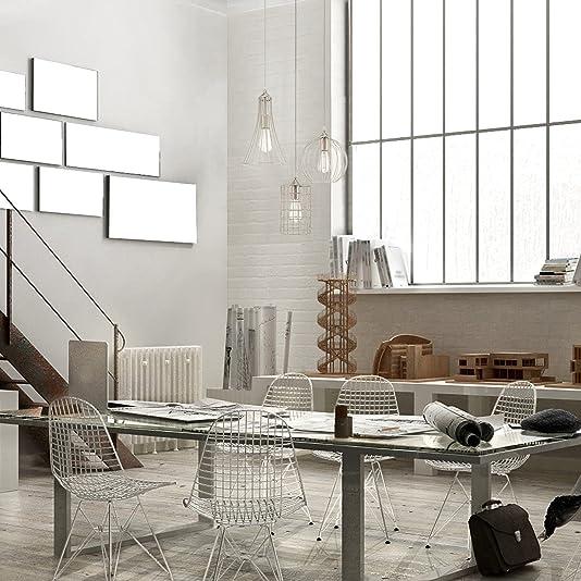 Kira Home Wyatt 11.5″ Modern Industrial 3-Light Cluster Pendant Chandelier Wire Cage Metal Shade
