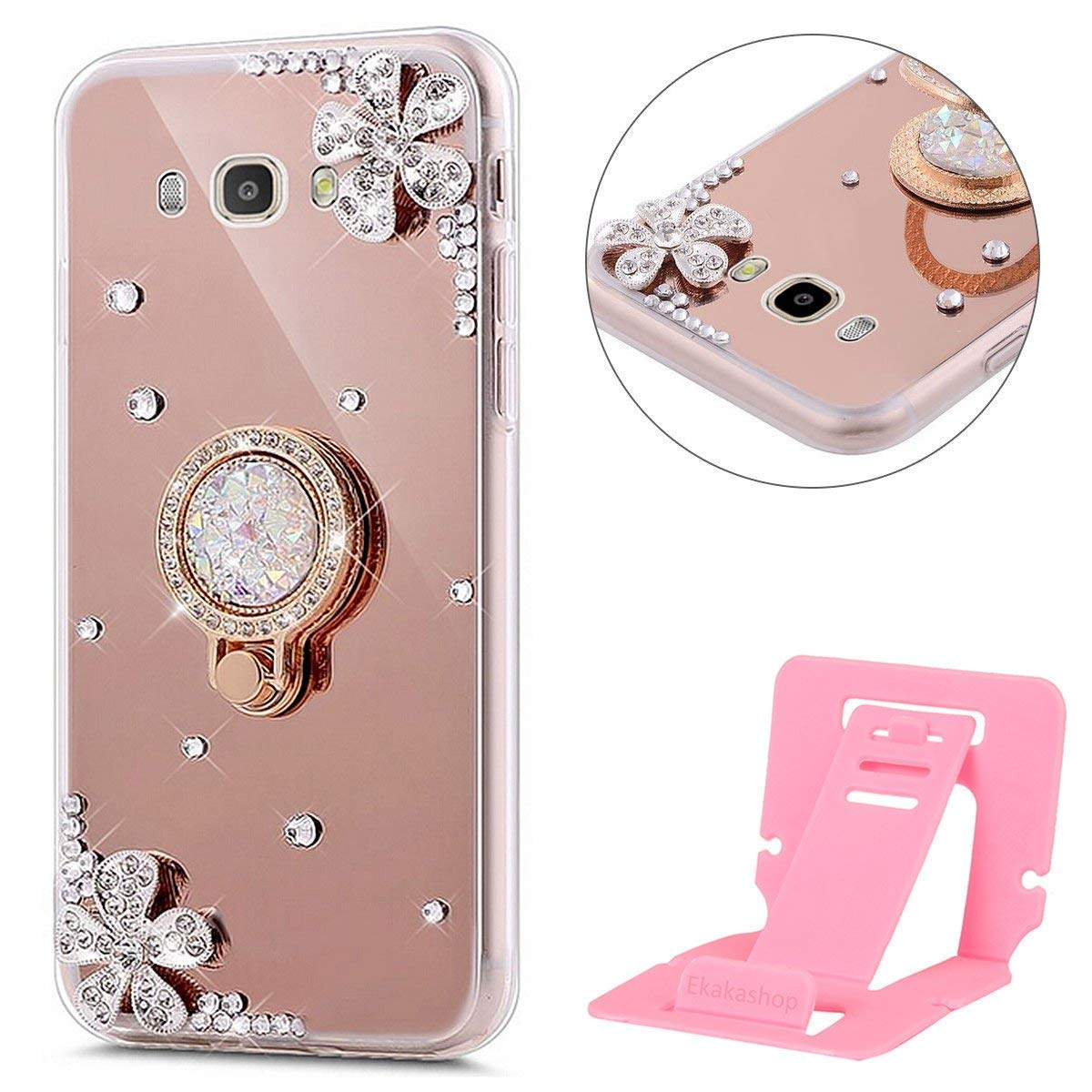 Case For Samsung A5 2017 Galaxy Cover Diamond Ekakashop Metal Bumper With Brushed A520 Sparkle Bling
