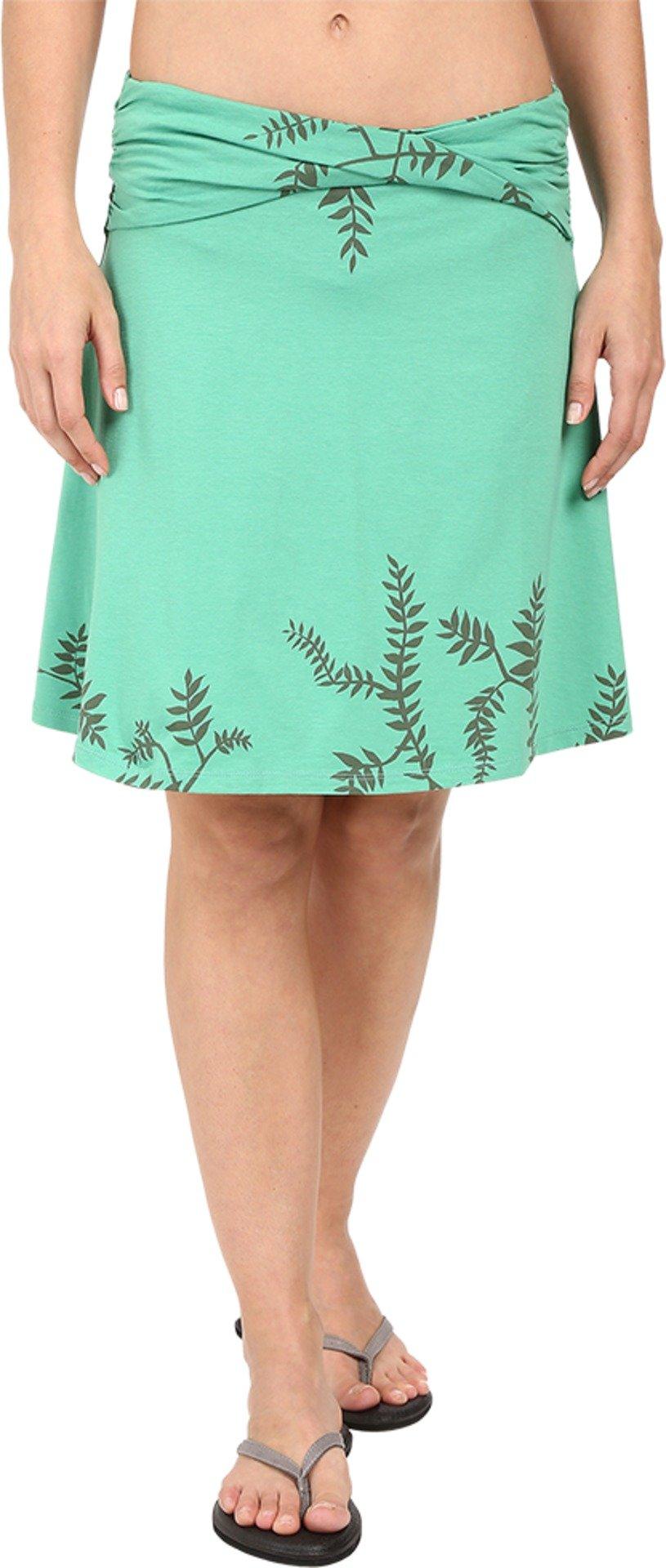 Toad&Co Women's Twila Skirt Green Awning Foliage Print Skirt