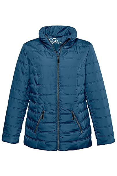 299cde574 Ulla Popken Women's Plus Size Lightweight Quilted Jacket 717269 at ...