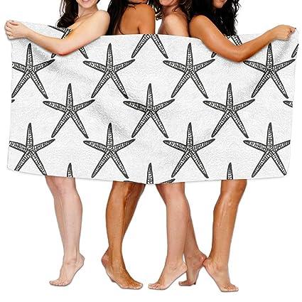 Toalla de baño con estampado de estrellas de mar