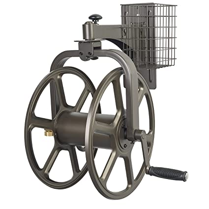 Superbe AwesomeWare Liberty Garden Products 712 Single Arm Navigator  Multi Directional Garden Hose Reel, Holds