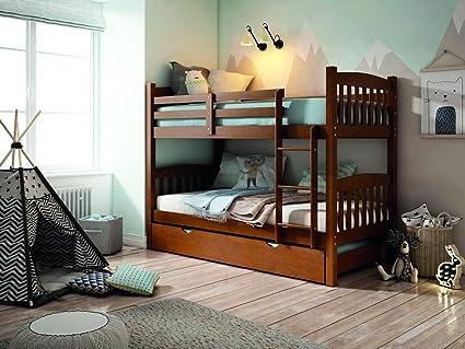 Desconocido MUEBLESYA.COM-Litera tres camas madera pino color nogal ...
