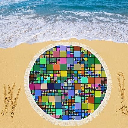 Unique Debora Custom poliéster Circular alfombrilla de playa playa manta toalla de playa (59 x