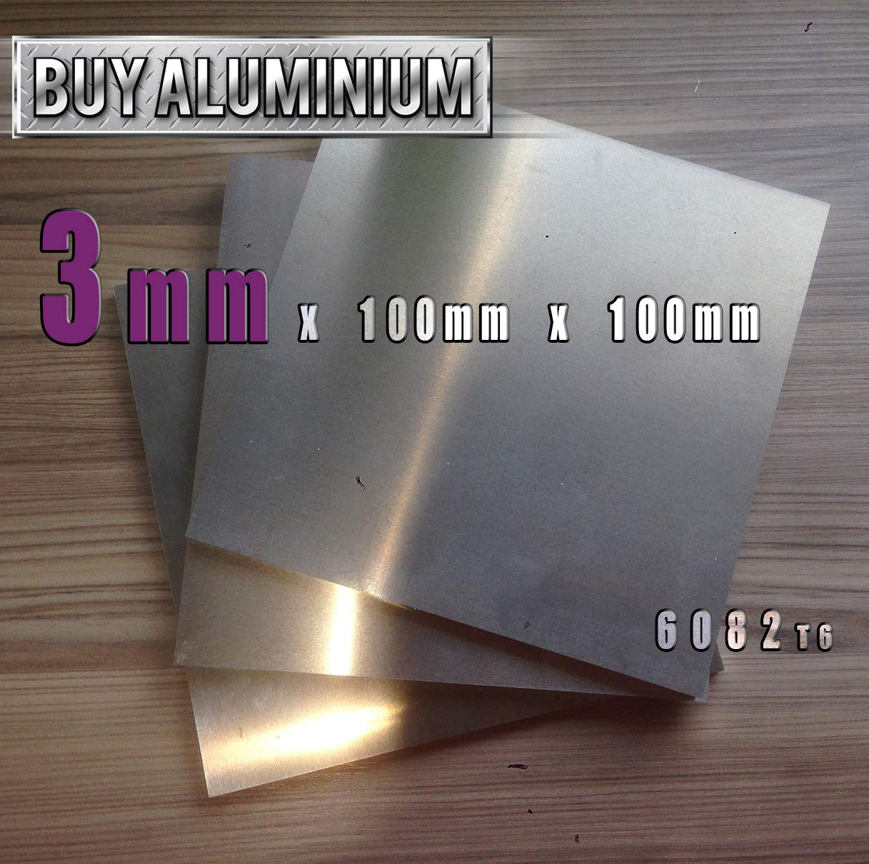 8mm Thick Aluminium Plate 300 x 500mm cut to size  6082