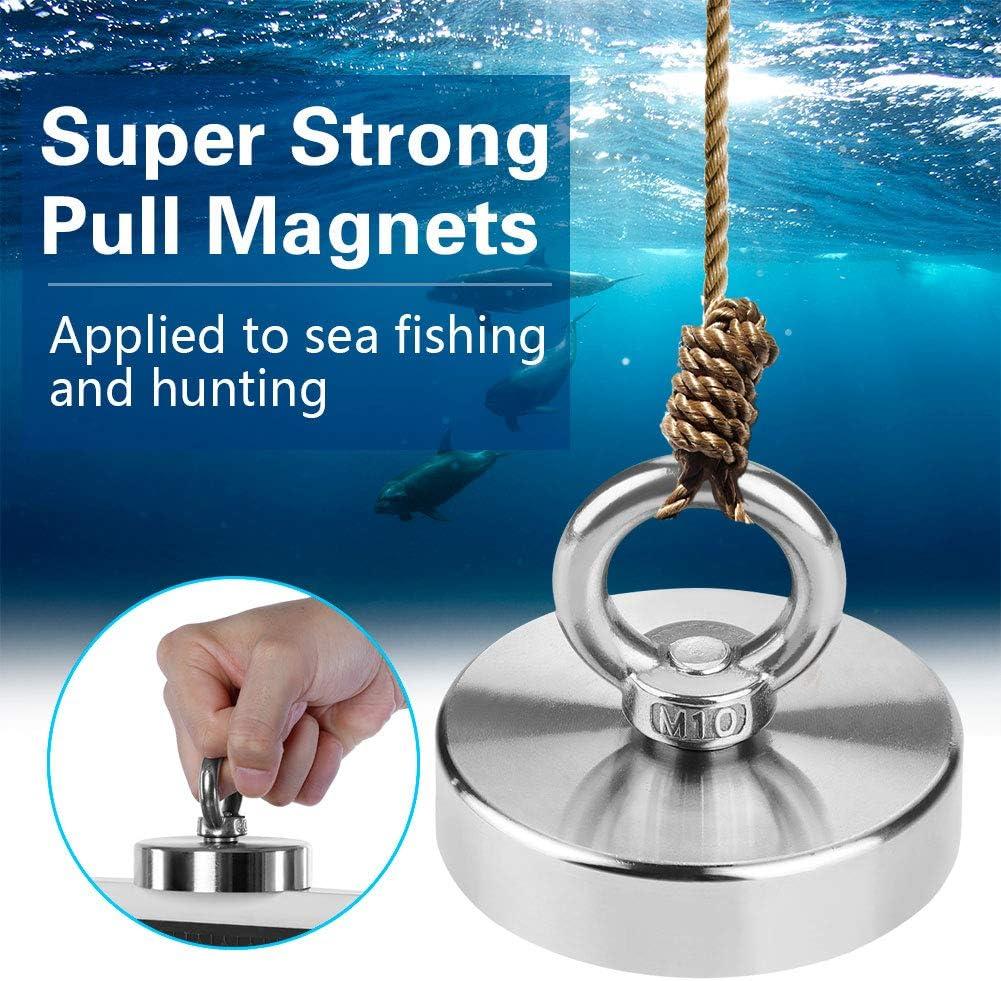 Magnete di recupero Calamita Pesca Mare Pesca Calamita Calamita Calamita Pesca Calamita Caccia Trazione Verticale Massimo 160 kg Diametro 75 mm