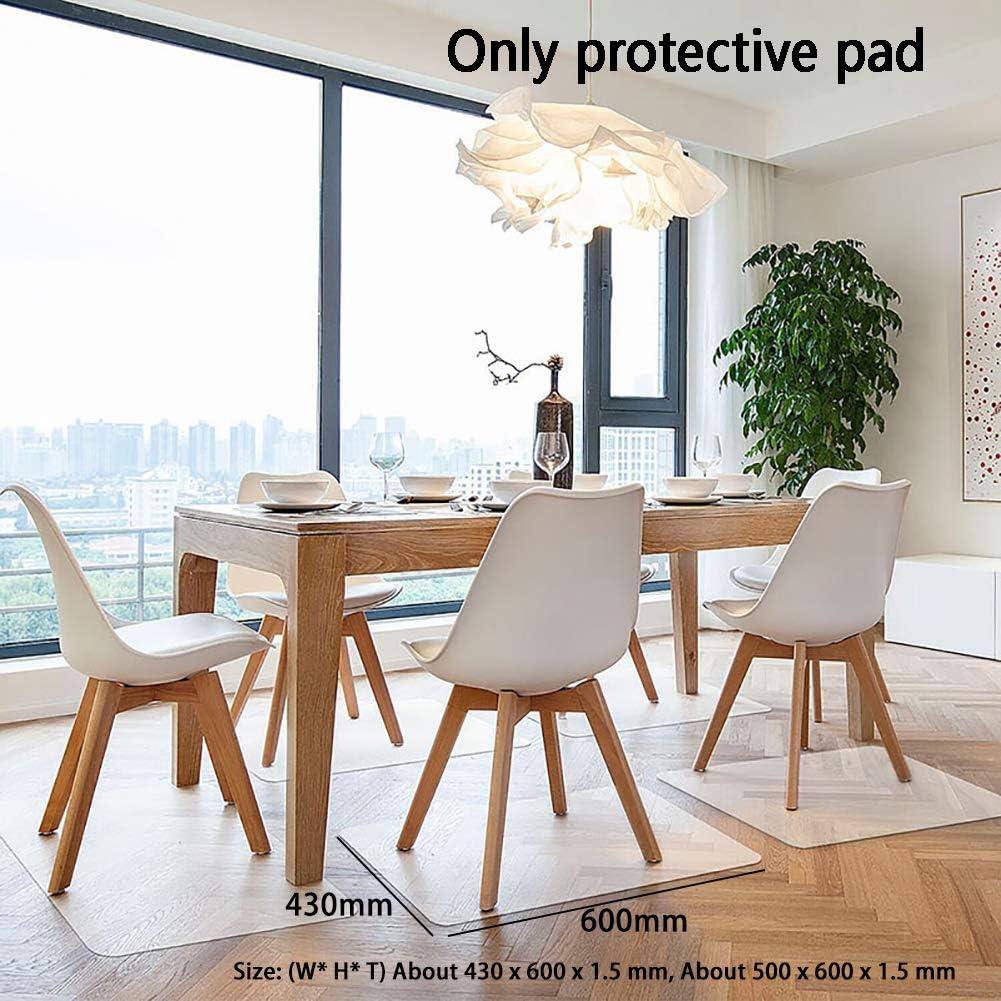 PVC Polish Non Slip Chair Mat for Office Home Hardwood/&Tile Floors Computer Chair Mat 2 Sizes Transparent Floor Protector Chair Mat
