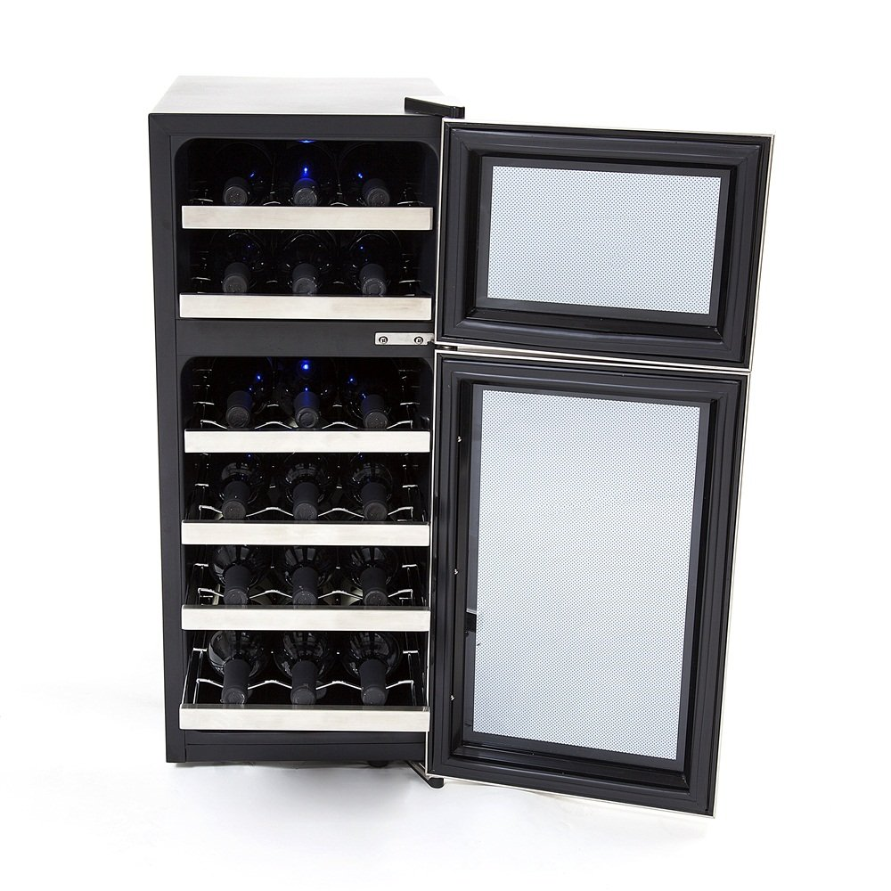 Amazon.com: Whynter WC-212BD 21-Bottle Dual Temperature Zone Touch Control  Freestanding Wine Cooler: Wine Cellar Cooling Systems: Kitchen & Dining