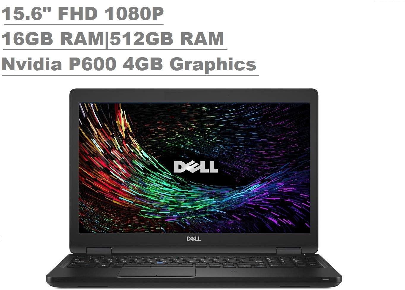 "Dell Precision 3530 M3530 15.6"" FHD (1920x1080) Mobile Worksation Laptop (Intel Quad-Core i5-8400H, 16GB DDR4, 512GB SSD, Quadro P600 4GB Graphics) Backlit, Thunderbolt 3, (NO Webcam) Windows 10 Pro"