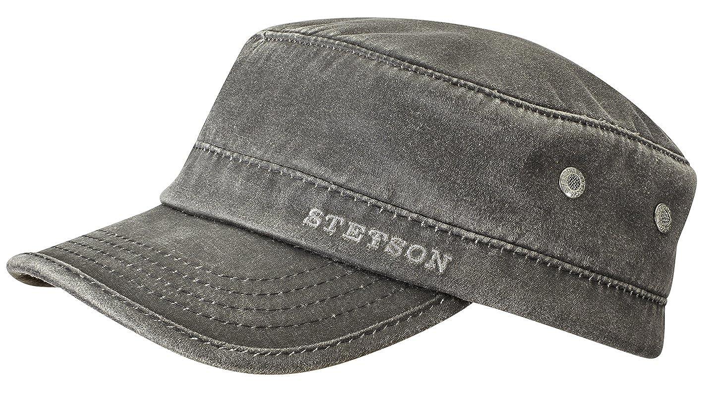 Amazon.com: Stetson Datto Winter Army Cap Men Black 6 3/4-6 7/8: Clothing