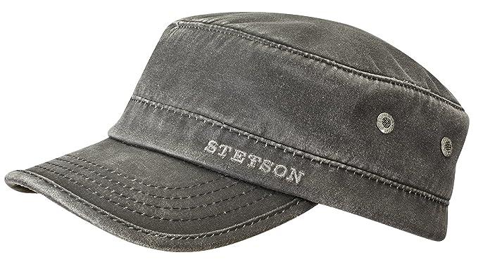 Stetson Datto Winter Army Cap Men Black 6 3/4-6 7/8