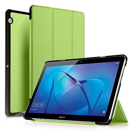 codice promozionale 2c3e4 d986f ELTD Huawei MediaPad T3 10 Custodia Cover, Ultra Lightweight Pelle con  Funzione di Stand Flip Copertina Smart Case Cover per Huawei MediaPad T3  10, ...