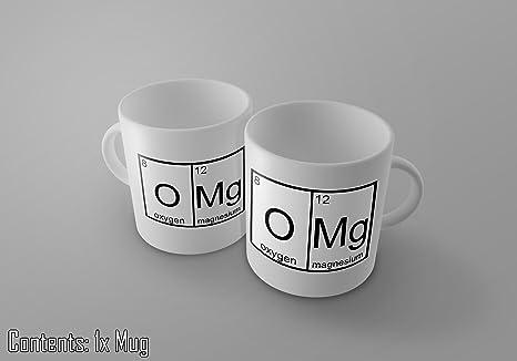 OMG (oxígeno y Magnesio) – Funny tabla periódica de elementos – té/café