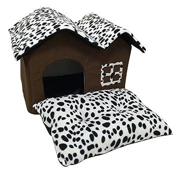 Casa Del Perro Algodón PP Plegable, Tamaño Grande, Diseño de Caseta Para Perro de