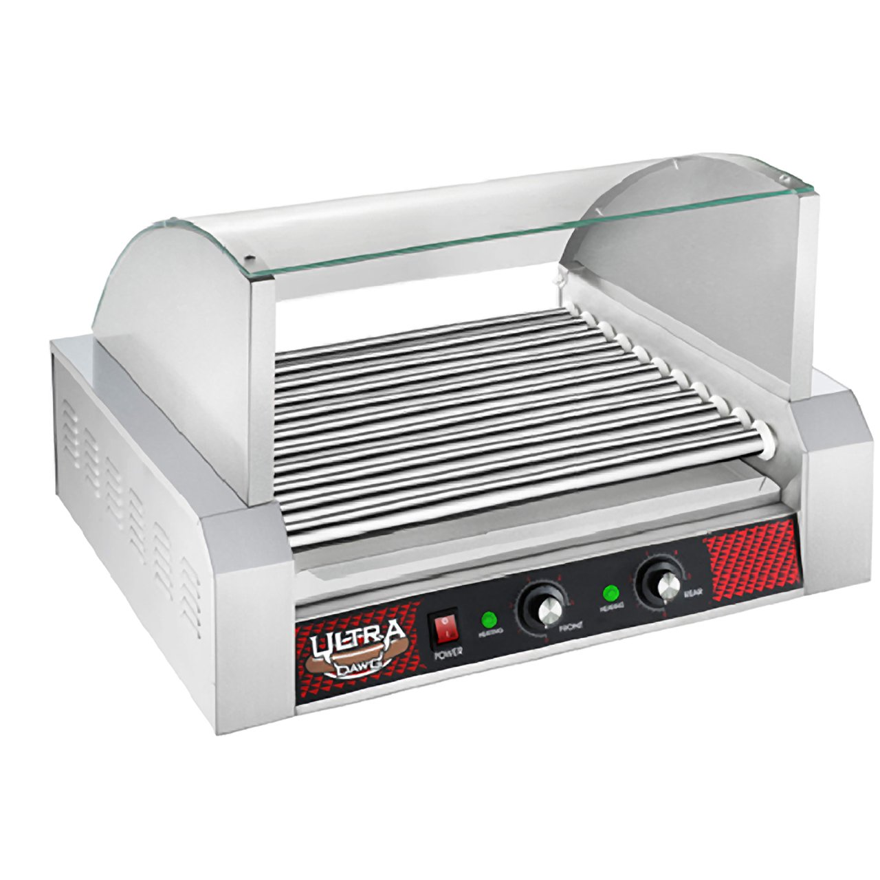 Great Northern Popcorn Commercial Quality 30 Hot Dog 11 Roller Grilling Machine with Cover by Great Northern Popcorn Company